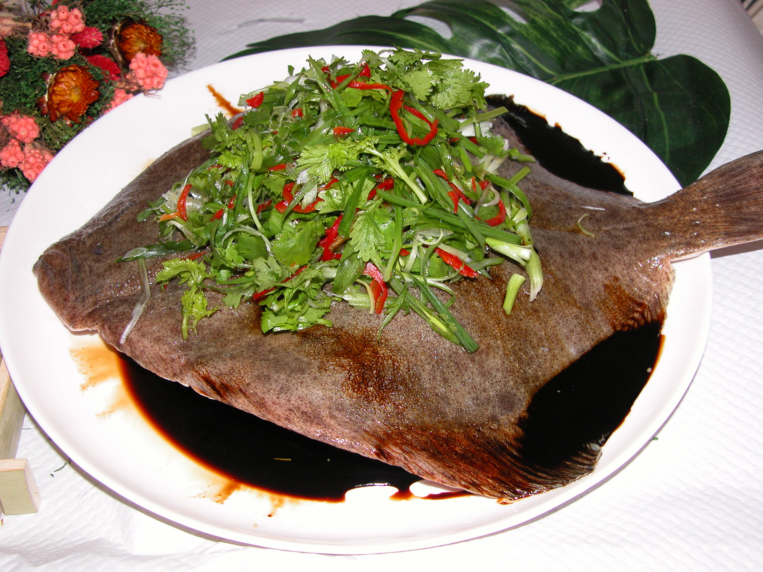 Sea food sea food turbot fish either steamed or for Turbot fish price