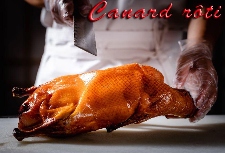 Canard rôti