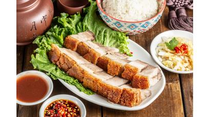 riz porc rôtis
